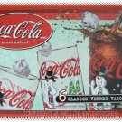 Coca-Cola 6 Glasses Snowman Coke Set 16oz - NIB & FREE SHIPPING
