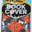"IT'S STRETCHABLE & WASHABLE SKULL & FLAMES BOOK COVER 12 3/4"" X 6 3/4"" - NIP & FREE SHIPPING"