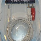 3.5mm Jack to 2 X RCA Audio Cable - NIP + Free Shipping