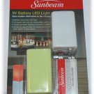 Sunbeam 9V Battery LED Light - Yellow - NIP & FREE SHIPPING