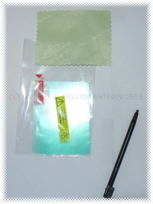 Nintendo DS Lite NDSL Screen Protectors + Cleaning Cloth + Black Stylus *BULK* + FREE SHIPPING