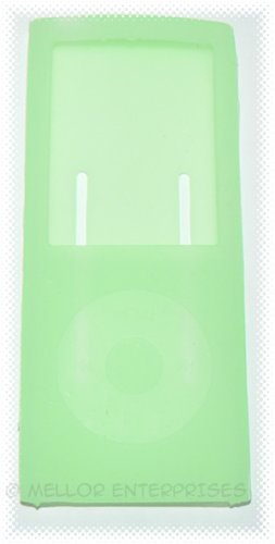 Apple iPod Nano Chromatic (4th Gen) Jelly Silicone Sleeve Case - Green - *BULK* + FREE SHIPPING