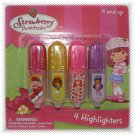 Strawberry Shortcake Highlighters 4-pack - NIP & FREE SHIPPING!