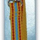 Dog Leash 47 in x .6 in - Yellow Red & Blue - NIP & FREE SHIPPING!
