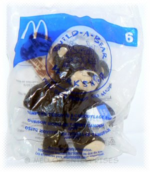 2006 McDonalds Happy Meal Toy Build A Bear #6 Dimples Teddy in Camouflage - NIP & FREE SHIPPING