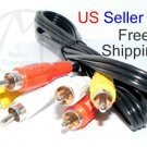 NEW Composite RCA Cable Audio/Video TV Stereo 6ft - FREE SHIPPING