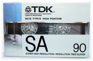 TDK 90 Minute SA Super High Resolution Single Cassette Tape - NIP + FREE SHIPPING