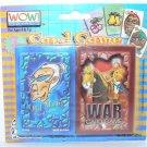 Wow Games! Old Maid & War Playing Card Games - NIP + FREE SHIPPING