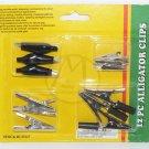 12 PC Black Alligator Clip Kit - NIP + FREE SHIPPING