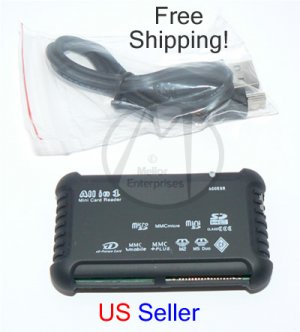 All in 1 Card Reader Plug & Play Writer USB 2.0 1.0 (36-in-1) + FREE SHIPPING