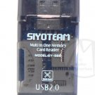 Siyoteam Multi Card Reader Plug & Play Writer USB 2.0 1.0  SD SDHC MMC TF MS M2 + FREE SHIPPING