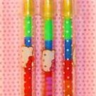 Hello Kitty Push Crayon 3PK Sanrio - NIP + FREE SHIPPING