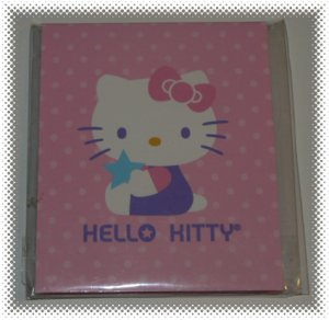 Hello Kitty Pink Memo Pad with Sticky Flags - NIP & FREE SHIPPING!