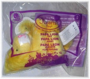 2010 McDonalds Happy Meal Toy Only Hearts Pets #8 Papa Lion - NIP & FREE SHIPPING