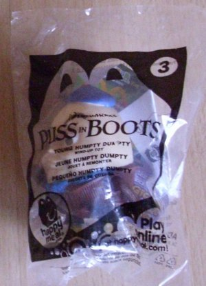 2011 McDonalds Happy Meal Toy Puss in Boots #3 Young Humpty Dumpty - NIP & FREE SHIPPING