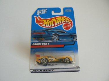 Hot Wheels 2000 Panoz GTR-1 #187 Yellow NOC 1:64 scale  25413