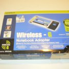 Linksys Wireless G WPC54G 2.4Ghz PCMCIA Notebook Adapter Card - USED - FREE SHIPPING