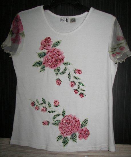 V-836 Shana-K Cap Sleeve Top Style