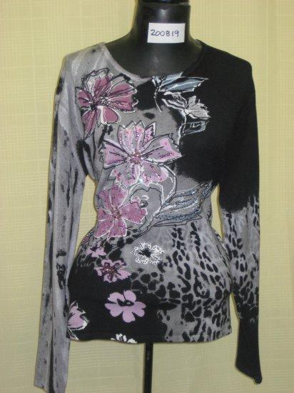 200819 Shana-K Ladies Knited Print Sweater
