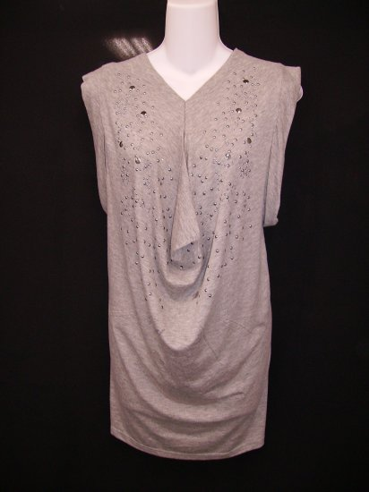 Z-21043 Shana K Light/Gray Tunic w/Studs