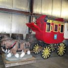 Wells Fargo Custom Stagecoach and Draft Horses concrete