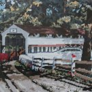 Old Country Bridge needlepoint kit by Mildred Sands Kratz horse buggy covered bridge vintage 483