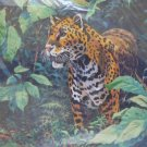 Jungle Jaguar gallery crewel kit by Jim Beaudoin from Dimensions 794