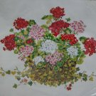 Geranium Basket a rare vintage Paragon crewel embroidery kit Very large 1735
