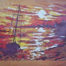 Low Tide crewel embroidery kit by Adele Veres from Paragon ocean sunset boats 1719