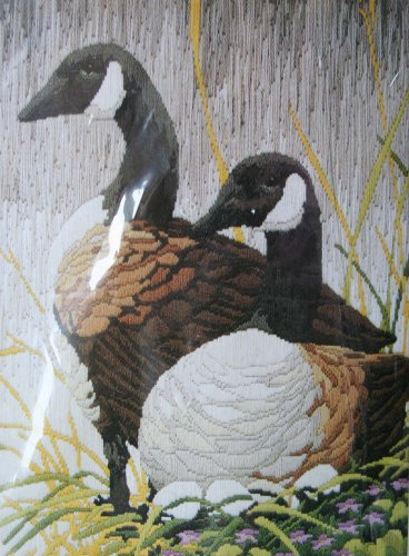 Nesting Geese by Roger Reinardy vintage longstitch needlepoint kit Unopened 2038