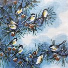 The Chickadees by Roger Reinardy vintage needlepoint kit Unopened 1650