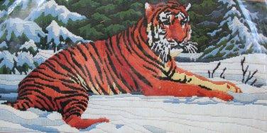 Siberian Tiger by Roger Reinardy vintage longstitch needlepoint kit Unopened 2040
