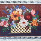 Fresh Country Floral by Karen Avery RARE vintage needlepoint kit flowers in basket Unopened 993