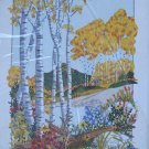 Mountain Retreat by Georgia Ball vintage crewel embroidery kit fall floral Unopened 1999