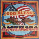 God Bless America by Sara Gutierrez vintage needlepoint kit patriotic eagle Unopened 1649