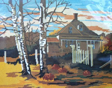 Country Retreat from Dimensions vintage needlepoint kit homestead farm Unopened 1640