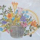 Tableau by Georgia Ball vintage crewel kit flowers floral basket Unopened 2250