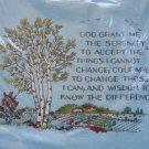 Serenity Prayer from Paragon vintage crewel kit rural farm trees Unopened 1685