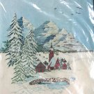 Alpine Village by Georgia Ball vintage crewel kit snow mountains swiss homes Unopened 2007