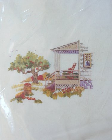 Autumn Apple Tree by Erica Wilson crewel kit RARE porch rocker fall Unopened 2023