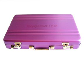 BUSINESS CARD HOLDER - BRIEFCASE DESIGN PURPLE ECBCH-A1002