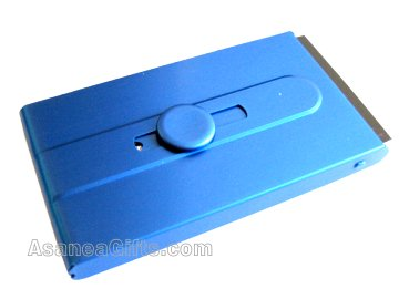 BUSINESS CARD CASE / BUSINESS CARD HOLDER - BLUE ECBCH-A2002
