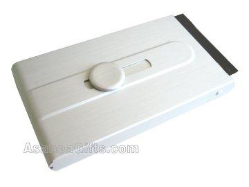 BUSINESS CARD CASE / BUSINESS CARD HOLDER - SILVER ECBCH-A2002