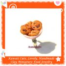 FOOD JEWELRY - HANDCRAFTED BOWL OF PRETZEL PENDANT RING ECMFJ-RG1023