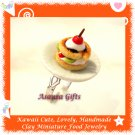 FOOD JEWELRY - HANDCRAFTED MINIATURE FRUIT PASTRY PENDANT RING ECMFJ-RG1003