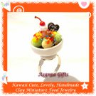 FOOD JEWELLERY - HANDCRAFTED ICE CREAM BOWL PENDANT RING ECMFJ-RG1014