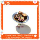 HANDCRAFTED JEWELRY - MINIATURE CHOCOLATE DESSERT PLATE PENDANT RING ECMFJ-RG1022