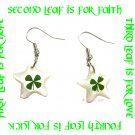 BEAUTIFUL FOUR LEAF CLOVER SHELL EARRINGS ECFLC-SH4001