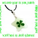 GLOW IN THE DARK STAR FOUR LEAF CLOVER NECKLACE ECFLC-NP2001
