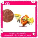 MINIATURE PIZZA 4 PC SET - HANDMADE POLYMER CLAY FOOD FOR DOLLS HOUSE OR MINIATURISTS ECDMF-CC3006